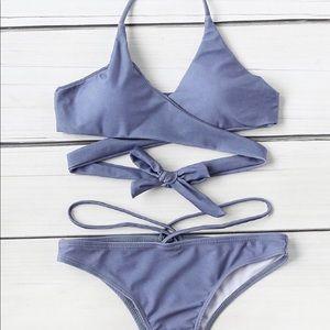Wrap bikini set